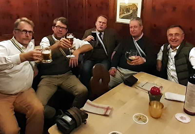v.l. Comberg, Lau, Beeken, Ertl, Hobrecker III