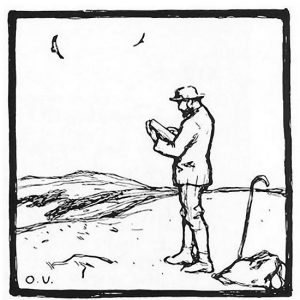 Selbstdarstellung - Federzeichnung, 1914