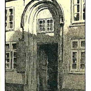 Kochs Hof Lübeck - Federzeichnung, 1908