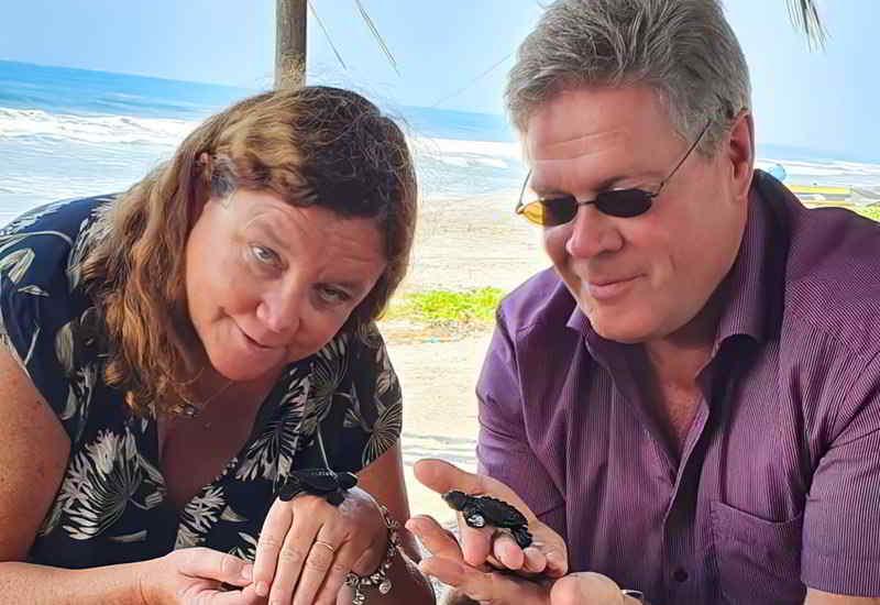 Woeste Und Frau Regina Am Pazifikstrand