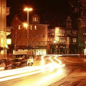 Marburger Verkehr Bei Nacht