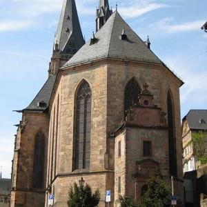 Die Lutherische Pfarrkirche Von Hinten