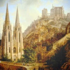 So Sah Der Maler Domenico Quaglio Marburg Im Mittelalter