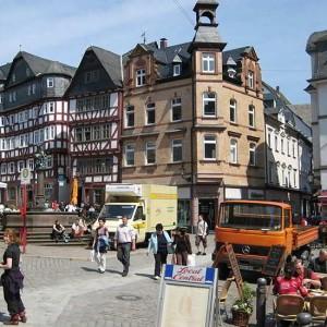 Der Marktplatz In Marburg